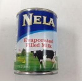Milk, evaporated, Nela, 24/12oz