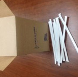 Plastic, straws,clear,wrapped,500ct
