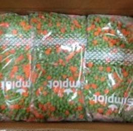 peas carrots, mix,frozen, 12/2.5
