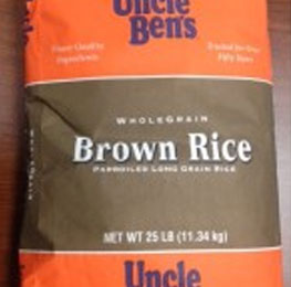 Rice,brown,uncle bens,25lb