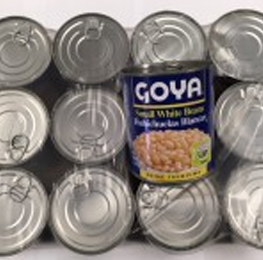 White beans, small white, Goya, 12/29 oz