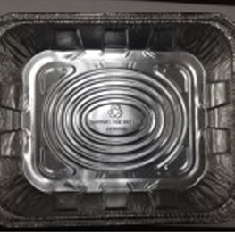Aluminum 1/2 pan tray.Deep. 100/ case.