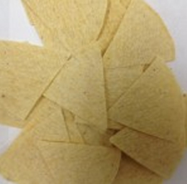 Chip, unfried, yellow, 6 cut, 20 lb