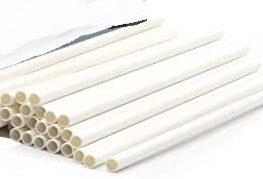 Straw, PAPER, 7.75 inch, white 2000ct